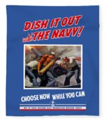 Dish It Out With The Navy Fleece Blanket