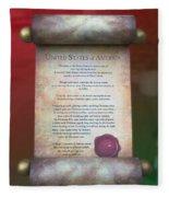 Disney World Christmas In The United States Scroll Fleece Blanket
