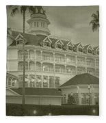 Disney World The Grand Floridian Resort Vintage Fleece Blanket
