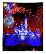 Disneyland 60th Anniversary Fireworks Fleece Blanket