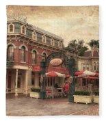Disneyland Corner Cafe Pa Textured Fleece Blanket