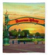 Disneyland Downtown Disney Signage 02 Fleece Blanket