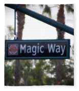 Disneyland Magic Way Street Signage Fleece Blanket