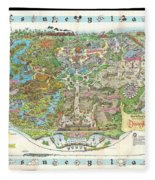 Disneyland Of Old Fleece Blanket