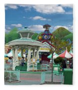 Disneyland Toontown Young Man Proposing To His Lady Panorama Fleece Blanket