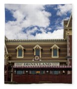 Disneyland Train Depot Signage Fleece Blanket