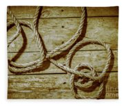 Dispatched Ropes And Voyages Fleece Blanket
