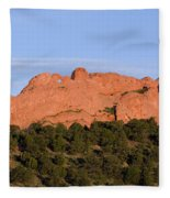 Distant Camels In The Garden Of The Gods Fleece Blanket