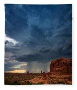 Distant Desert Storm Fleece Blanket