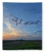 Distant Farm Fleece Blanket