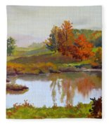 Distant Maples Fleece Blanket