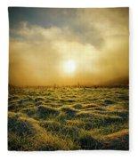 Distant Mist Horizon Fleece Blanket