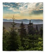 Distant Mountains To The East Fleece Blanket
