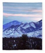 The Distant Peaks Of Pikes Fleece Blanket