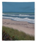 Distant Pier Fleece Blanket