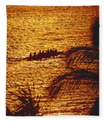 Distant View Of Outrigger Fleece Blanket