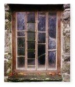 Disused Watermill Window Fleece Blanket