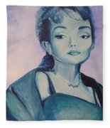Diva I Maria Callas  Fleece Blanket