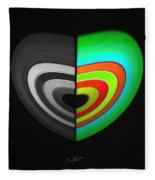 Divided Heart Fleece Blanket