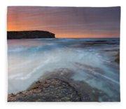 Divided Tides Fleece Blanket