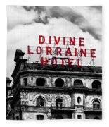 Divine Lorraine Hotel Marquee Fleece Blanket