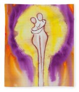 Divine Love Series No. 2082 Fleece Blanket