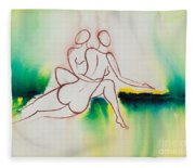 Divine Love Series No. 2090 Fleece Blanket