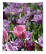 Divine Tulip Display Fleece Blanket