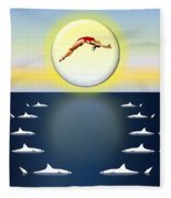 Diving Into Unknown Waters Fleece Blanket