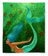 Diving Mermaid Fantasy Art Fleece Blanket