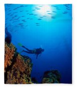 Diving Scene Fleece Blanket