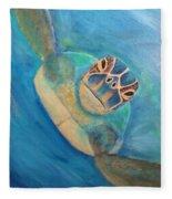 Diving Sea Turtle Fleece Blanket