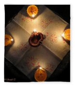 Diwali Lamps Fleece Blanket
