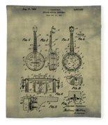 Dixie Banjolele Patent 1954 In Weathered Fleece Blanket