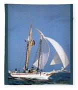 dk tall ships fiddlers green gaff schooner lyr 1973 D K Spinaker Fleece Blanket