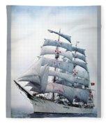 dk tall ships sagres i lyr 1896 D K Spinaker Fleece Blanket