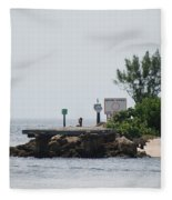 Dock Girl Fleece Blanket