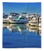 Dock O' The Bay Fleece Blanket