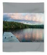 Dock Of The Lake Fleece Blanket