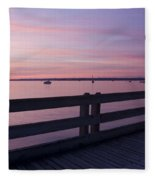 Dock On The Bay Fleece Blanket