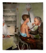 Doctor - At The Pediatricians Office 1925 Fleece Blanket