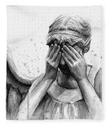 Doctor Who Weeping Angel Don't Blink Fleece Blanket