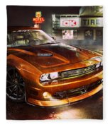 Dodge Challenger R T Fleece Blanket