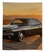 Dodge Charger - 01 Fleece Blanket