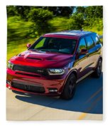 Dodge Durango Srt 2018 Fleece Blanket
