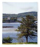 Doe Castle ,donegal Fleece Blanket