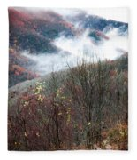 Doe On Autumn Ridge Fleece Blanket