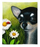 Dog 79 Chihuahua Fleece Blanket