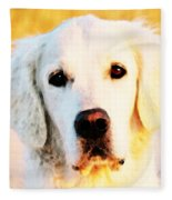 Dog Art - Golden Moments Fleece Blanket