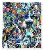 Dog Lovers Delight - Sharon Cummings Fleece Blanket